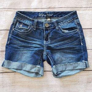 "Ariya Jeans Embellished 5"" Jean Shorts Juniors 7/8"